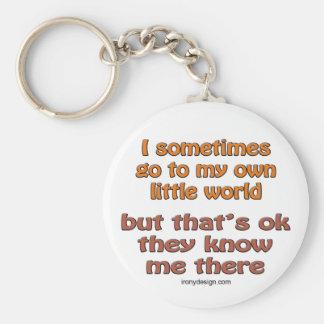 My Own Little World Keychain