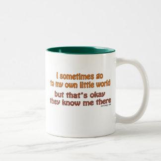 My Own Little World Two-Tone Coffee Mug