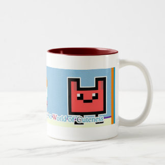 My Own World of Cuteness (supercute) Two-Tone Coffee Mug
