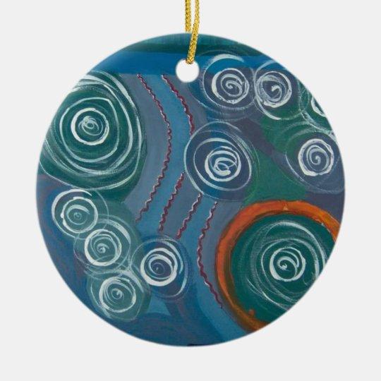 my painting ceramic ornament