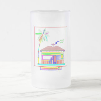 My palm tree 16 oz frosted mug