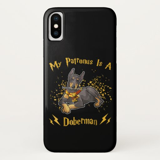 My Palronus Is A Doberman iPhone XS Case