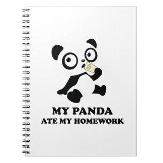 My Panda Ate My Homework Spiral Notebook