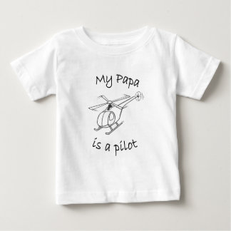 My Papa is a Pilot Baby T-Shirt