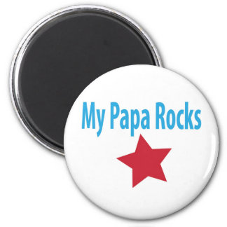 My papa rocks 2 inch round magnet
