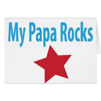 My papa rocks card