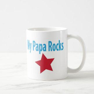 My papa rocks coffee mug