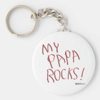 My Papa Rocks! Keychain