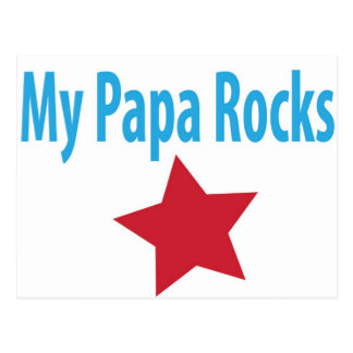 My papa rocks postcard