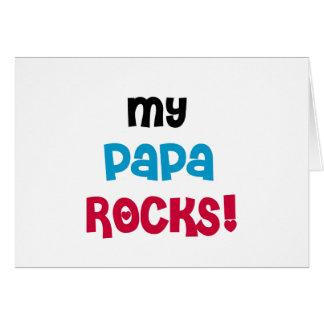 My Papa Rocks Tshirts and Gifts Card