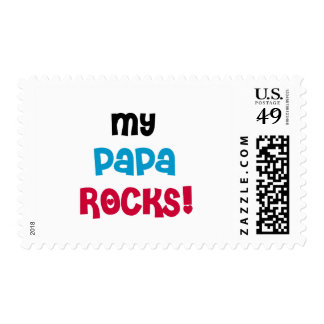 My Papa Rocks Tshirts and Gifts Postage Stamps