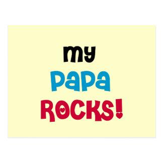 My Papa Rocks Tshirts and Gifts Postcard