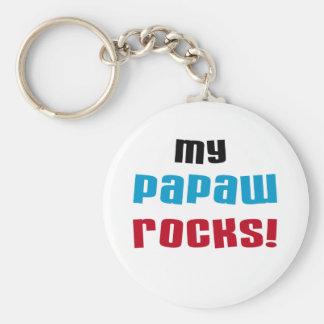 My Papaw Rocks T-shirts and Gifts Basic Round Button Keychain