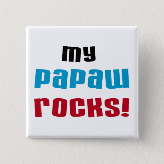 My Papaw Rocks T-shirts and Gifts Button