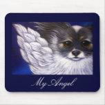 MY PAPILLON ANGEL DOG Mousepad