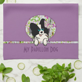 My Papillon Dog Kitchen Towels