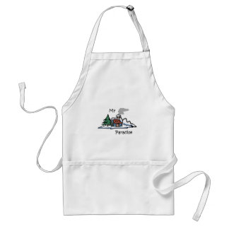My Paradise Cabin Design Adult Apron