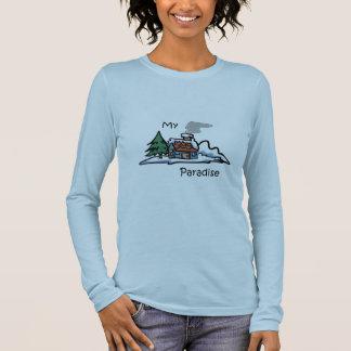 My Paradise Cabin Design Long Sleeve T-Shirt