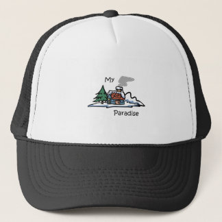 My Paradise Cabin Design Trucker Hat