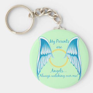 My Parents are Angels Basic Round Button Keychain