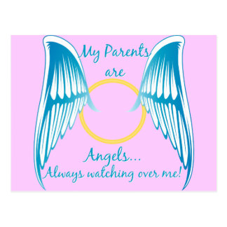 My Parents are Angels Postcard