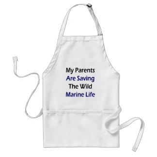 My Parents Are Saving The Wild Marine Life Adult Apron