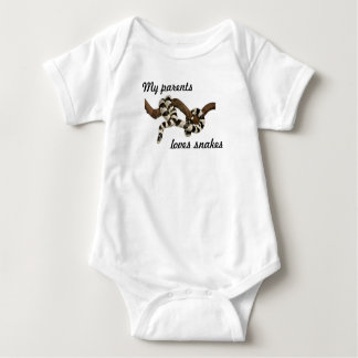 My parents loves snakes baby bodysuit