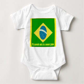 My parents met at a soccer game brazil infant creeper