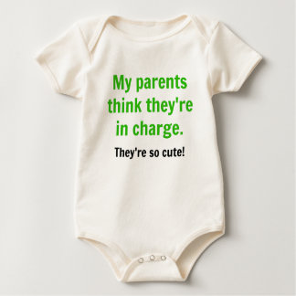 My Parents Think They're in Charge - Green Baby Bodysuit