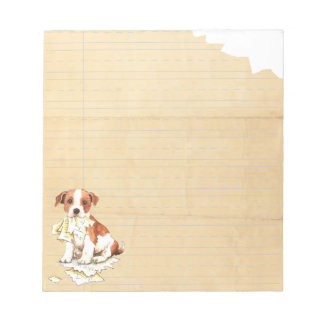 My Parson Russell Terrier Ate My Homework Notepad