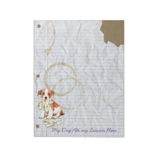 My Parson Russell Terrier Ate My Lesson Plan Notepad