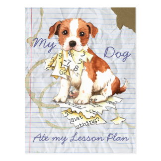 My Parson Russell Terrier Ate My Lesson Plan Postcards