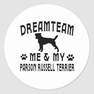 My Parson Russell Terrier Dog Classic Round Sticker
