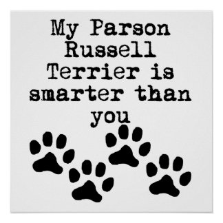 My Parson Russell Terrier Is Smarter Than You Posters