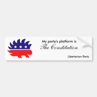 My party's platform bumper sticker