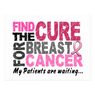 My Patients Are Waiting Breast Cancer Postcards
