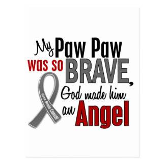 My Paw Paw Is An Angel 1 Brain Cancer Postcards