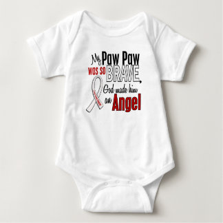 My Paw Paw Is An Angel Lung Cancer Baby Bodysuit