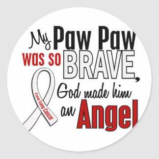 My Paw Paw Is An Angel Lung Cancer Classic Round Sticker