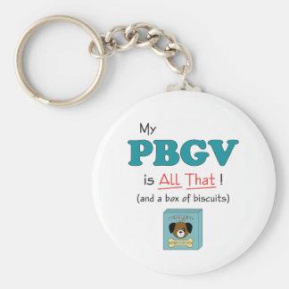 My PBGV is All That! Basic Round Button Keychain