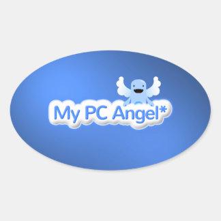 My PC Angel Charity Item Oval Sticker