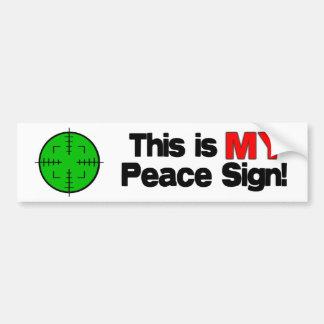 My Peace Sign Car Bumper Sticker