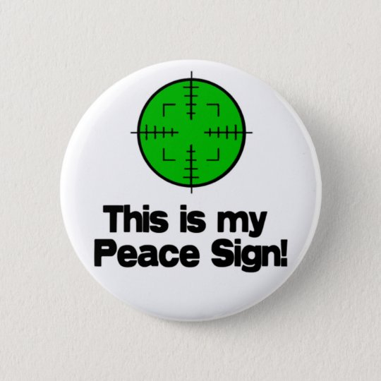 My Peace Sign! Pinback Button