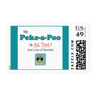 My Peke-a-Poo is All That! Postage Stamps