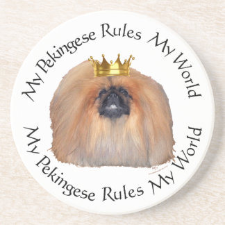 My Pekingese Rules My World Beverage Coasters