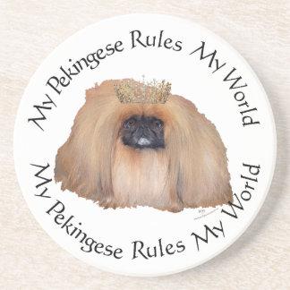 My Pekingese Rules My World Drink Coaster