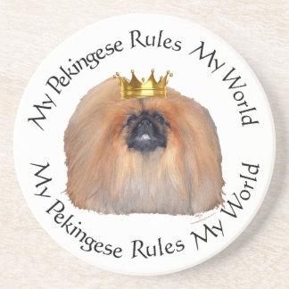My Pekingese Rules My World Sandstone Coaster