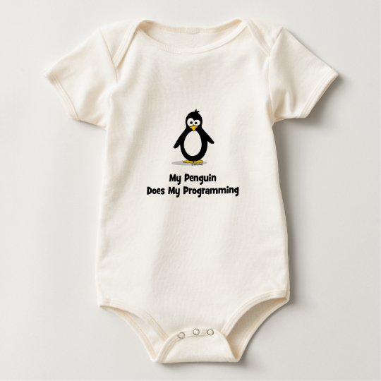My Penguin Does My Programming Baby Bodysuit