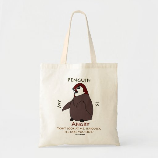 My Penguin Is... Angry!! Tote Bags