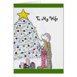 My People Merry Christmas To My Wife Card